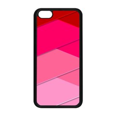 Geometric Shapes Magenta Pink Rose Apple Iphone 5c Seamless Case (black)