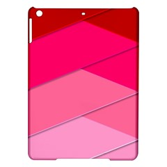 Geometric Shapes Magenta Pink Rose Ipad Air Hardshell Cases by Nexatart