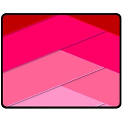 Geometric Shapes Magenta Pink Rose Double Sided Fleece Blanket (medium)