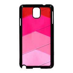 Geometric Shapes Magenta Pink Rose Samsung Galaxy Note 3 Neo Hardshell Case (black)