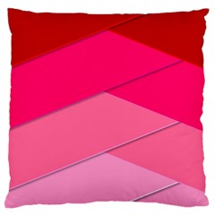 Geometric Shapes Magenta Pink Rose Large Flano Cushion Case (one Side)