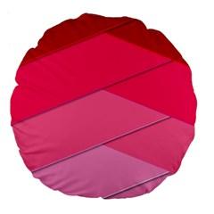 Geometric Shapes Magenta Pink Rose Large 18  Premium Flano Round Cushions