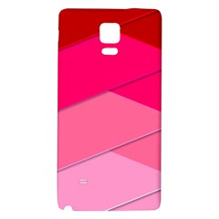 Geometric Shapes Magenta Pink Rose Galaxy Note 4 Back Case