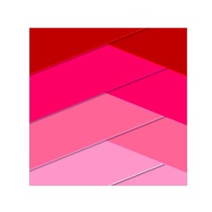 Geometric Shapes Magenta Pink Rose Small Satin Scarf (square)