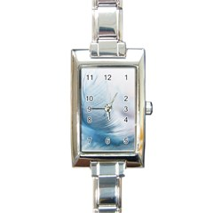 Feather Ease Slightly Blue Airy Rectangle Italian Charm Watch