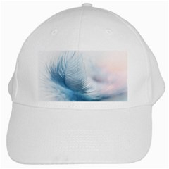 Feather Ease Slightly Blue Airy White Cap