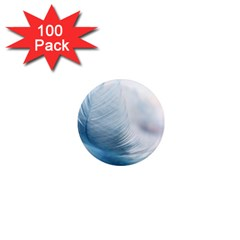 Feather Ease Slightly Blue Airy 1  Mini Magnets (100 Pack)