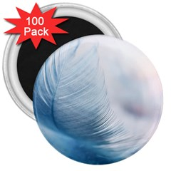 Feather Ease Slightly Blue Airy 3  Magnets (100 Pack)