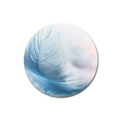 Feather Ease Slightly Blue Airy Magnet 3  (round)