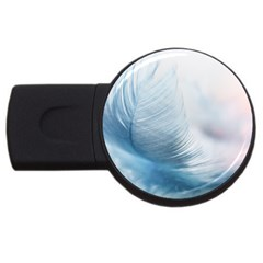 Feather Ease Slightly Blue Airy Usb Flash Drive Round (2 Gb)