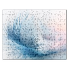 Feather Ease Slightly Blue Airy Rectangular Jigsaw Puzzl by Nexatart