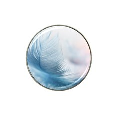 Feather Ease Slightly Blue Airy Hat Clip Ball Marker (10 Pack) by Nexatart