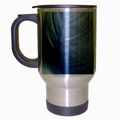 Feather Ease Slightly Blue Airy Travel Mug (silver Gray)