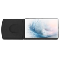Feather Ease Slightly Blue Airy Rectangular Usb Flash Drive