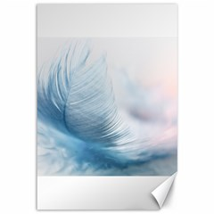 Feather Ease Slightly Blue Airy Canvas 12  X 18