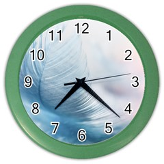 Feather Ease Slightly Blue Airy Color Wall Clocks
