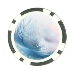 Feather Ease Slightly Blue Airy Poker Chip Card Guard