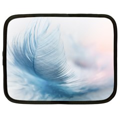 Feather Ease Slightly Blue Airy Netbook Case (large)