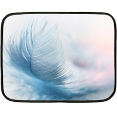 Feather Ease Slightly Blue Airy Double Sided Fleece Blanket (mini)
