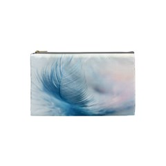 Feather Ease Slightly Blue Airy Cosmetic Bag (small)