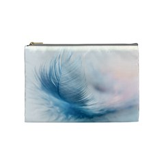 Feather Ease Slightly Blue Airy Cosmetic Bag (medium)