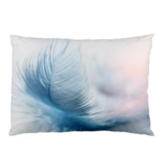 Feather Ease Slightly Blue Airy Pillow Case (two Sides)