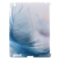Feather Ease Slightly Blue Airy Apple Ipad 3/4 Hardshell Case (compatible With Smart Cover)