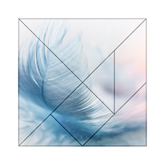 Feather Ease Slightly Blue Airy Acrylic Tangram Puzzle (6  X 6 )