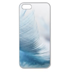 Feather Ease Slightly Blue Airy Apple Seamless Iphone 5 Case (clear) by Nexatart