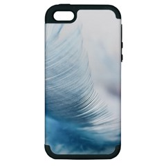 Feather Ease Slightly Blue Airy Apple Iphone 5 Hardshell Case (pc+silicone)