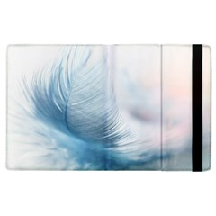 Feather Ease Slightly Blue Airy Apple Ipad 3/4 Flip Case