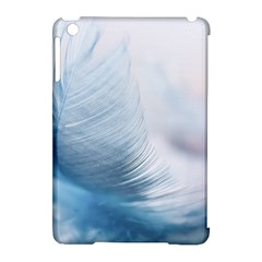 Feather Ease Slightly Blue Airy Apple Ipad Mini Hardshell Case (compatible With Smart Cover)