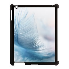 Feather Ease Slightly Blue Airy Apple Ipad 3/4 Case (black)