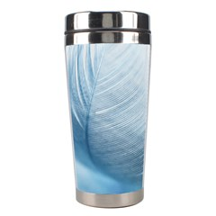 Feather Ease Slightly Blue Airy Stainless Steel Travel Tumblers