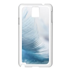Feather Ease Slightly Blue Airy Samsung Galaxy Note 3 N9005 Case (white)