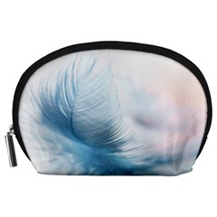 Feather Ease Slightly Blue Airy Accessory Pouches (large)
