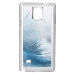 Feather Ease Slightly Blue Airy Samsung Galaxy Note 4 Case (white)