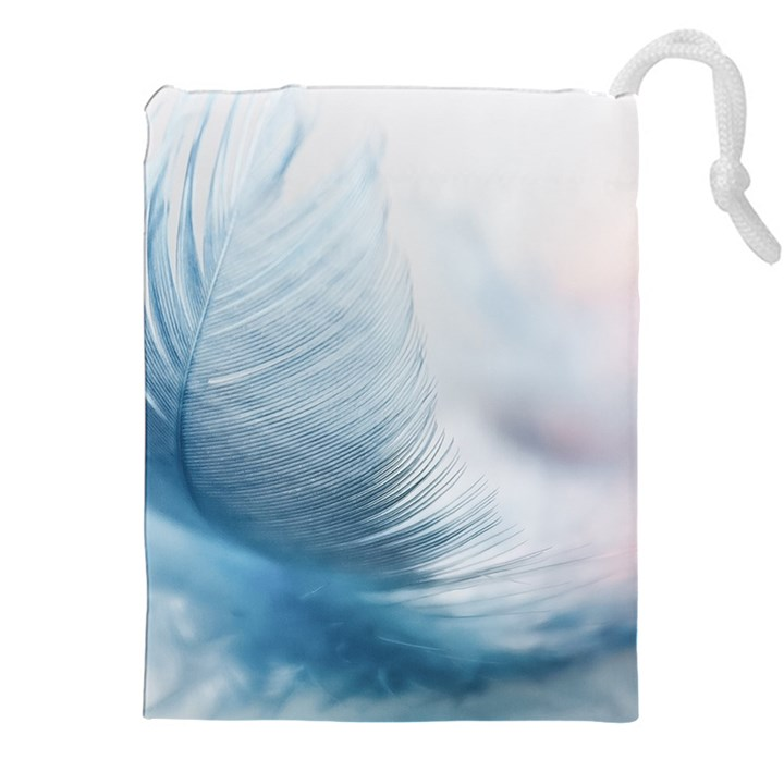 Feather Ease Slightly Blue Airy Drawstring Pouches (XXL)