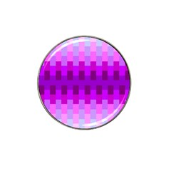 Geometric Cubes Pink Purple Blue Hat Clip Ball Marker (4 Pack) by Nexatart