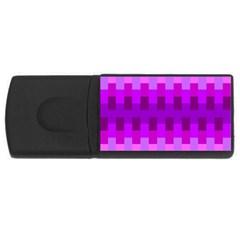 Geometric Cubes Pink Purple Blue Rectangular Usb Flash Drive