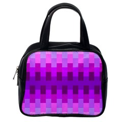 Geometric Cubes Pink Purple Blue Classic Handbags (one Side)