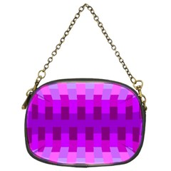 Geometric Cubes Pink Purple Blue Chain Purses (two Sides)