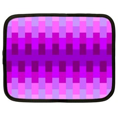 Geometric Cubes Pink Purple Blue Netbook Case (xl)