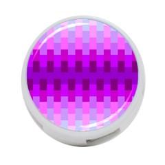 Geometric Cubes Pink Purple Blue 4 Port Usb Hub (one Side)
