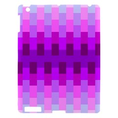 Geometric Cubes Pink Purple Blue Apple Ipad 3/4 Hardshell Case