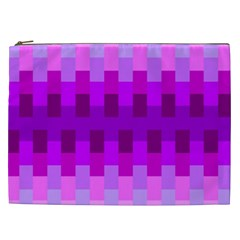 Geometric Cubes Pink Purple Blue Cosmetic Bag (xxl)
