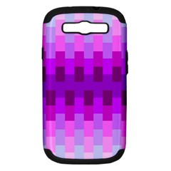 Geometric Cubes Pink Purple Blue Samsung Galaxy S Iii Hardshell Case (pc+silicone)