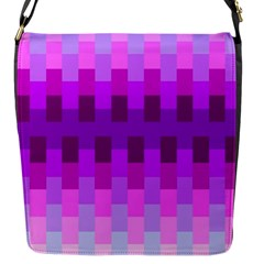 Geometric Cubes Pink Purple Blue Flap Messenger Bag (s)