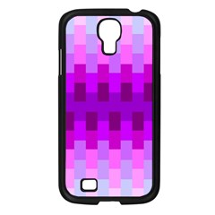 Geometric Cubes Pink Purple Blue Samsung Galaxy S4 I9500/ I9505 Case (black)