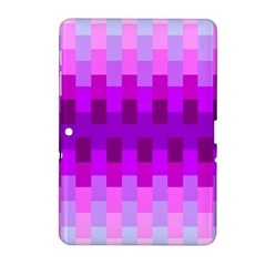 Geometric Cubes Pink Purple Blue Samsung Galaxy Tab 2 (10 1 ) P5100 Hardshell Case